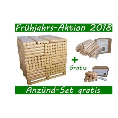 Frühjahrs Aktion Bio- Holzbriketts